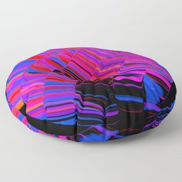 curved ripples on black Floor Pillow