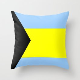 flag of Bahamas 2– Nassau,Bahamian,Bahamianese,Junkanoo,Regattas Throw Pillow