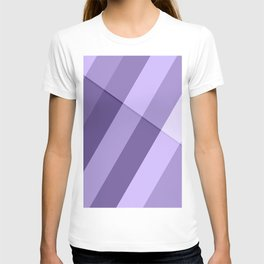Ultra violet purple modern geometric lines T-shirt