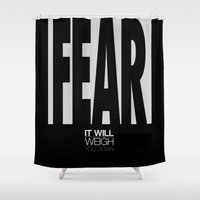 fear Shower Curtains featuring Fear by Kevin Kidwell