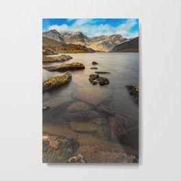 Ogwen Lake Snowdonia Metal Print