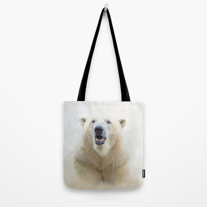 Cute  Zoo Polar Bear Tote Bag