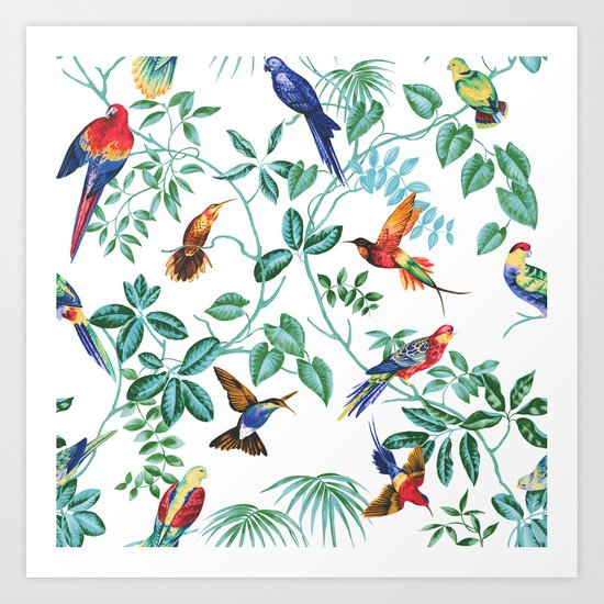 Jungle Birds II Art Print