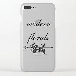 modern florals 2 . flowers . art Clear iPhone Case