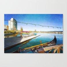 Lake Merritt Gondola Canvas Print