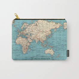Pacific Projection World Map Carry-All Pouch
