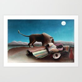 Henri Rousseau The Sleeping Gypsy Art Print