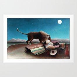 Henri Rousseau The Sleeping Gypsy Art Print