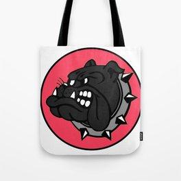 Black Bulldog Tote Bag