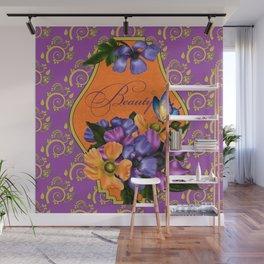 Paisley Anemones  Wall Mural