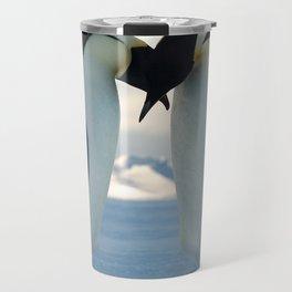 Emperor Penguin Courtship Travel Mug