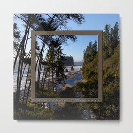 awesome ruby beach, wa (2x square) Metal Print