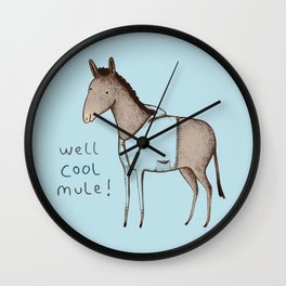 Well Cool Mule! Wall Clock