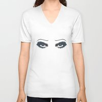 hedwig V-neck T-shirts featuring Hedwig 2 Eyes by byebyesally