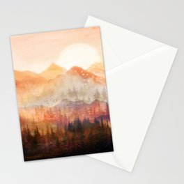 Forest Shrouded in Morning Mist Stationery Cards