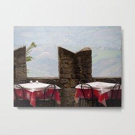Overlooking San Marino Metal Print
