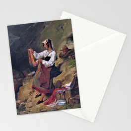 12,000pixel-500dpi - Leon Cogniet - The Italian Brigand s Wife - Digital Remastered Edition Stationery Cards