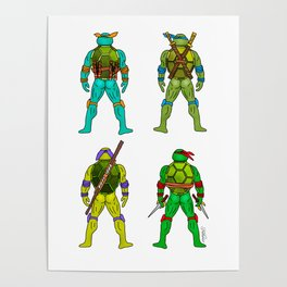Superhero Butts - Turtles Poster