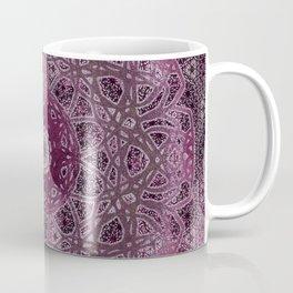 Vintage Merlot Lace Mandala Coffee Mug