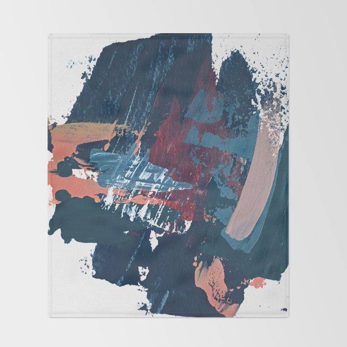 Pacific Northwest: a pretty minimal abstract piece by Alyssa Hamilton Art Throw Blanket