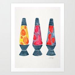 Retro Vibes – Warm Palette Art Print