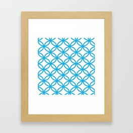 Interlocking Blue Framed Art Print