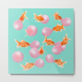 BUBBLEGUM GOLDFISH Metal Print