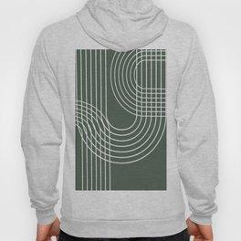 Minimalist Lines & Forest Green BG Hoody