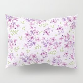 Little Purple and Pink Flowers Pillow Sham