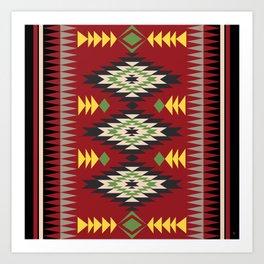 Navajo Pattern 1 Art Print