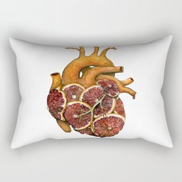 Blood Orange Heart Rectangular Pillow