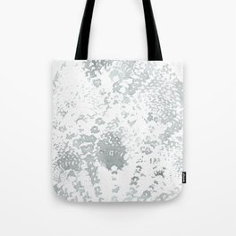 Gray and White Lace Watercolor Print Tote Bag
