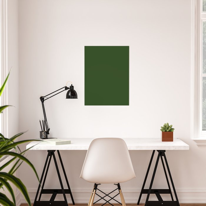Solid Dark Forest Green Simple Solid Color All Over Print Poster