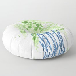 Ginger Jar + Maidenhair Fern Floor Pillow
