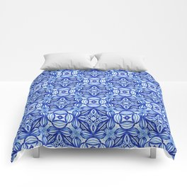 For the Love of Blue - Pattern 372 Comforters