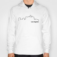 los angeles Hoodies featuring Los Angeles by Fabian Bross