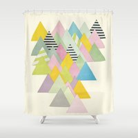 french Shower Curtains featuring French Alps by Cassia Beck