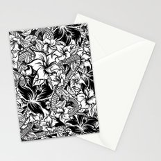 Snaky Fleur, Black 'n White Stationery Cards