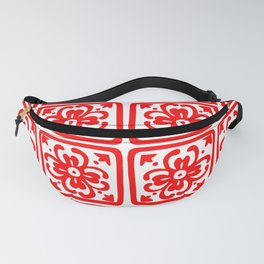 Classic Spicy-Red Chile Tile Pattern Fanny Pack