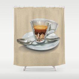 Italian coffee 2.0 Shower Curtain
