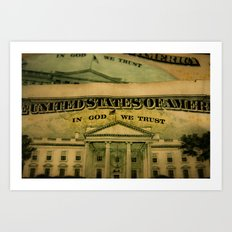 money in God we trust Art Print