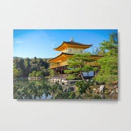 Golden Temple Kyoto, Japan Metal Print