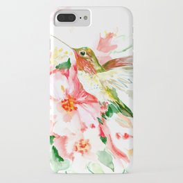 Hummingbird, Hawaiian Design, Hibiscus and Hummingbird iPhone Case