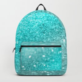 Aqua Teal Ocean Glitter #1 #shiny #decor #art #society6 Backpack