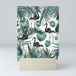 Tropical Flamingo Pattern #6 #tropical #decor #art #society6 Mini Art Print