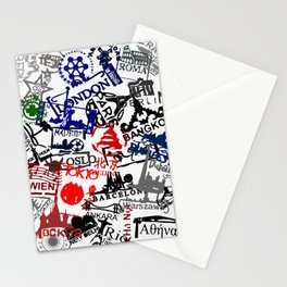 World City Traveling Stamps Stationery Cards