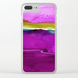 Meditations No. 33J by kathy Morton Stanion Clear iPhone Case