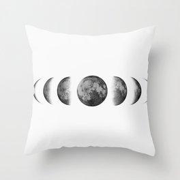 Phases of the moon - Scandinavian art Throw Pillow