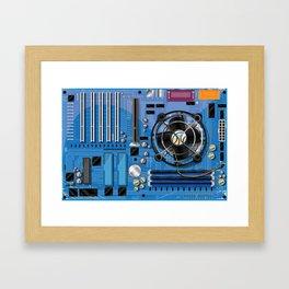 Computer Motherboard Framed Art Print