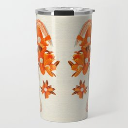 Alligator and Camellias Travel Mug